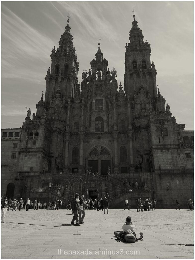 Peregrino ante la Catedral.