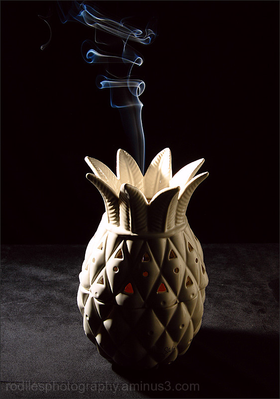 Smoking pineapple