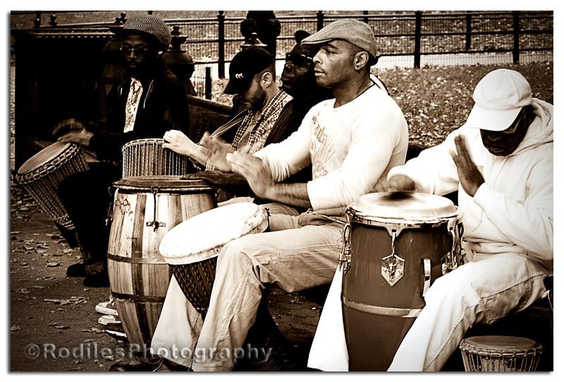 Musicos en el parque