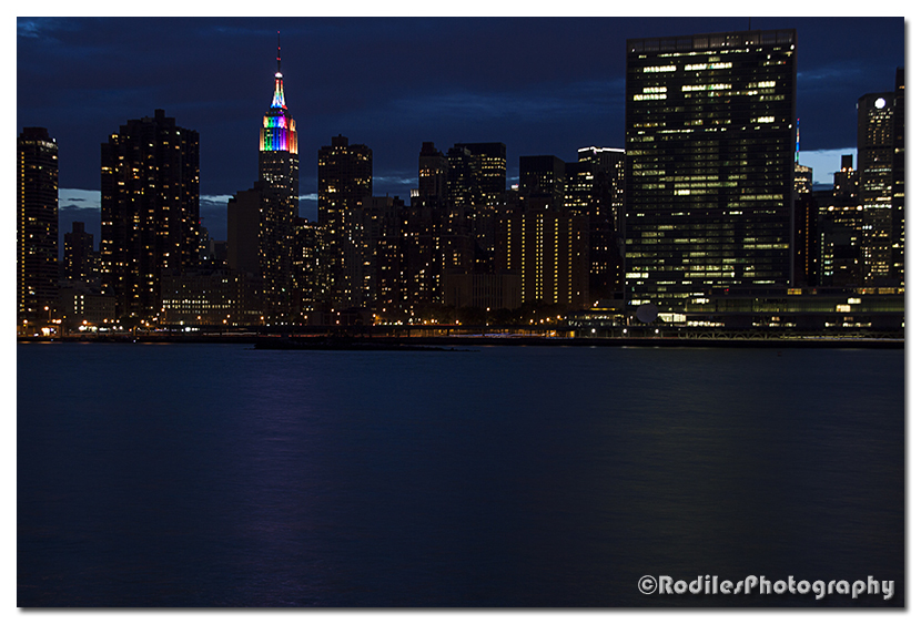 Rainbow Empire State Building NYC