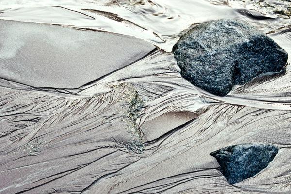 Molten Sand on the Shore at Birch Point Beach