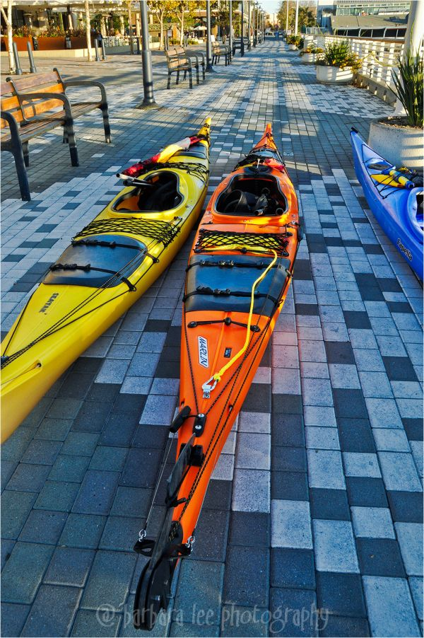 Colorful Kayaks at Jack London Square in Oakland