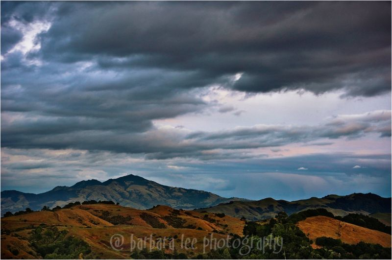 Fading Storm clouds Over Mt. Diablo