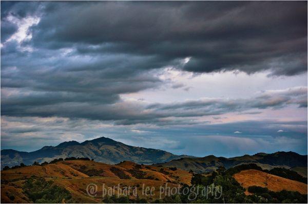 Fading Storm clouds Over Mt. Diablo