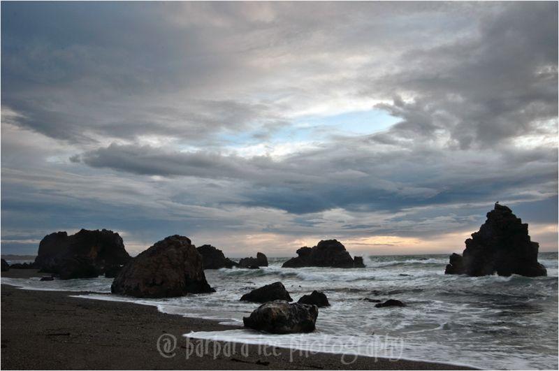 Sunset Over the Ocean in Bodega Bay California