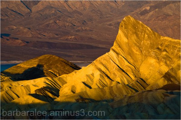Sunrise on Manly Beacon Death Valley