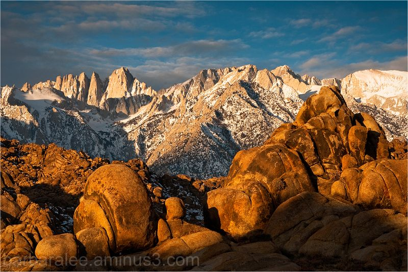 Alabama Hills and Mt. Whitney at Dawn