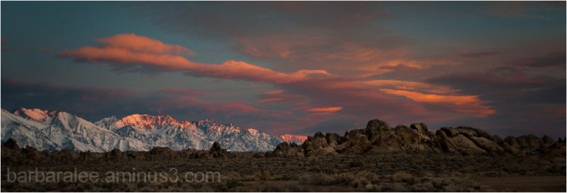 Sunrise over Alabama Hills  and Eastern Sierras