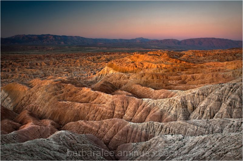 Sunrise over Anza Borrego Badlands