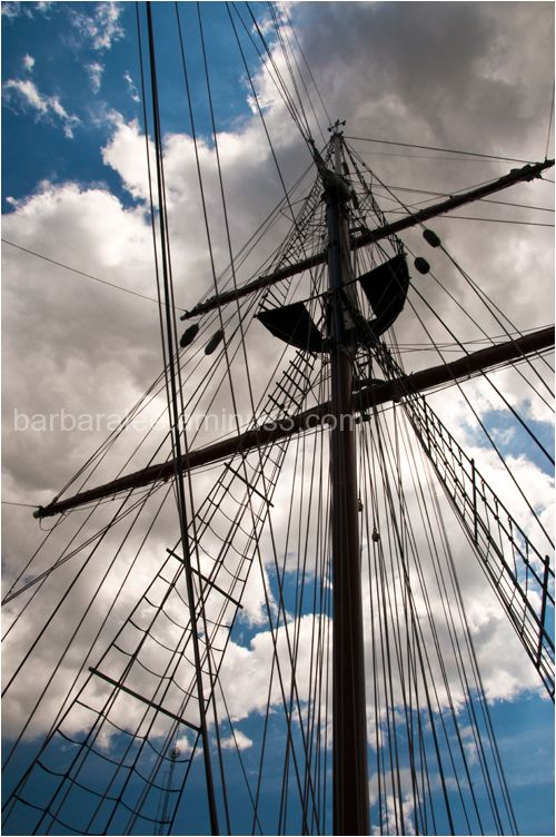 Rigging on the Tall Ship Peacemaker in Wilmington