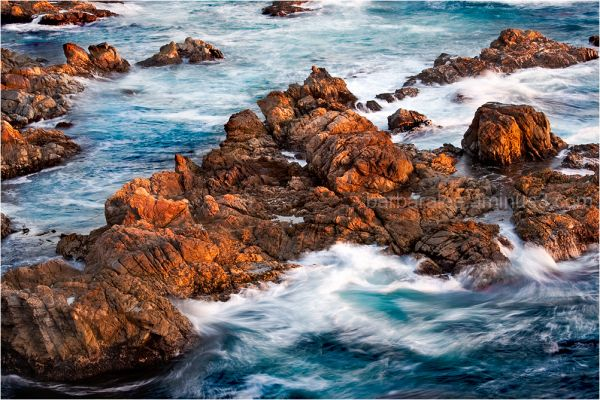 Last Light - Rocks off the Coast of Carmel