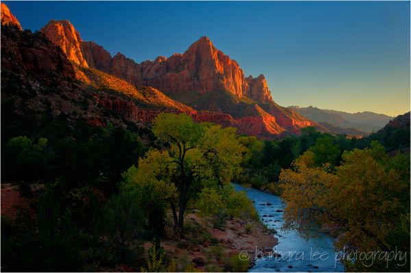 Sunset over the Watchman, Zion National Park