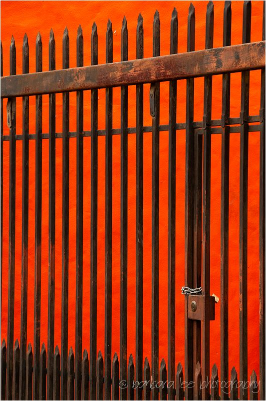 Orange Wall and Fence