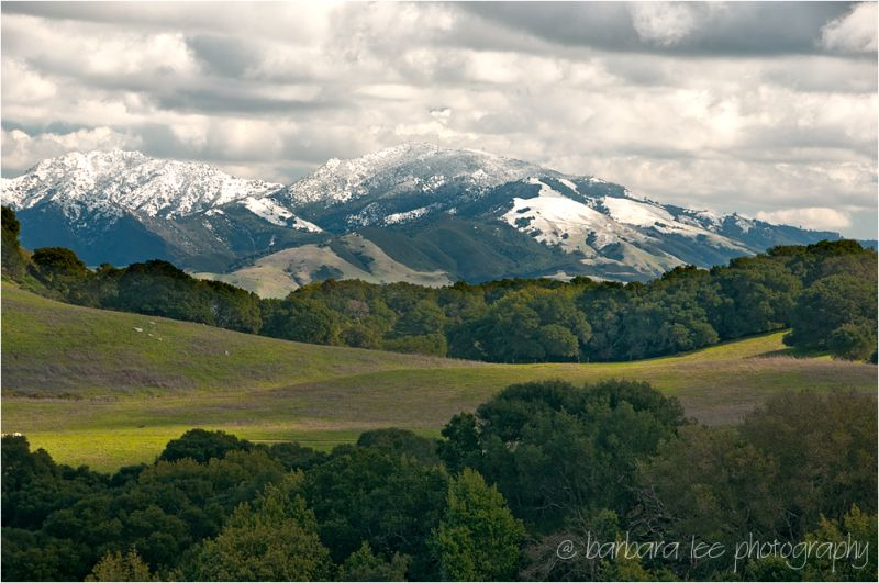 Mt. Diablo Covered with Snow