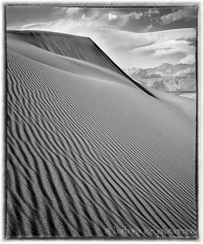 Mesaquite Dunes, Death Valley in Black and White