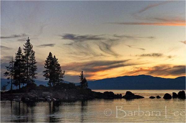 Lake Tahoe Sunset - Sand Harbor