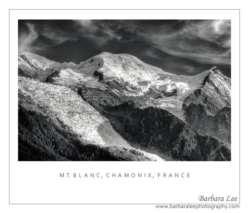 Mt. Blanc as seen from Chamonix