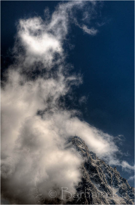 The Aguille du Midi High in the Clouds, Chamonix