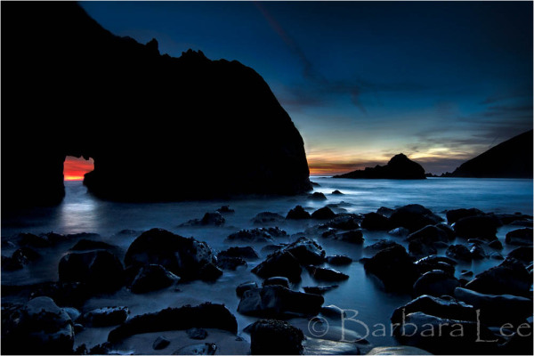Blue Hour at Pfeiffer Arch, Big Sur