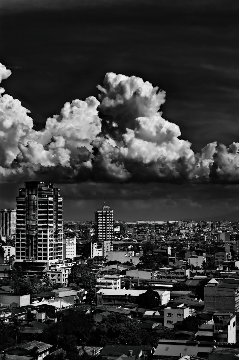 A scene of a Manila Skyline.