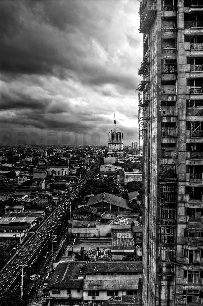 A view of the Manila City Skyline