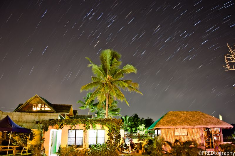 Star trails on a quiet night in Batangas.