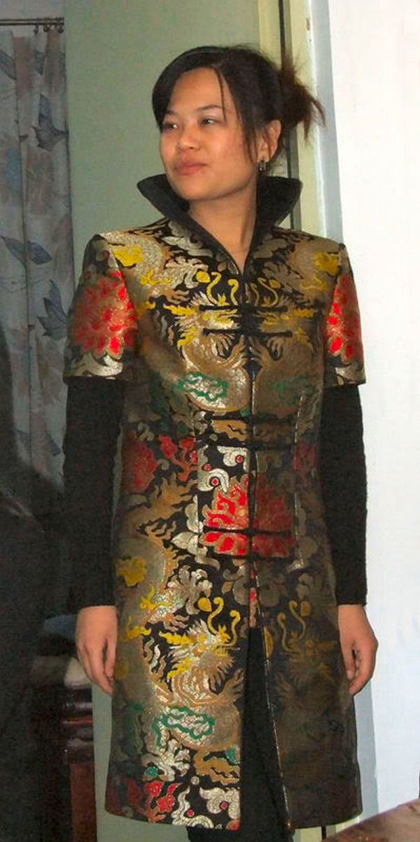 A beautiful embroidered coat