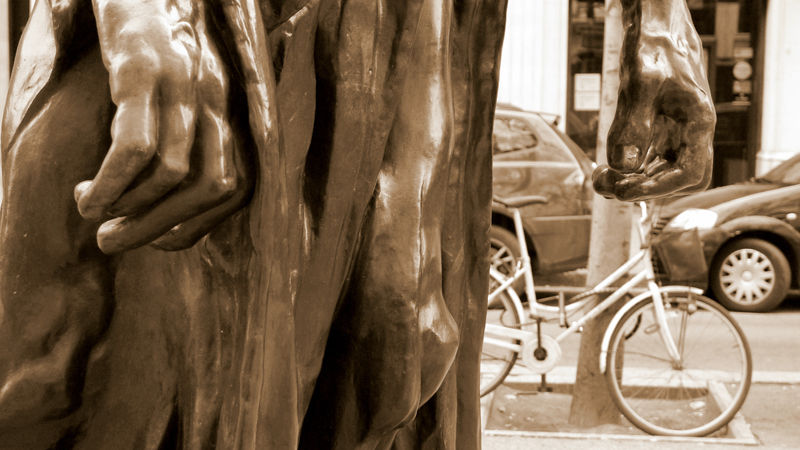 Rodin in the street