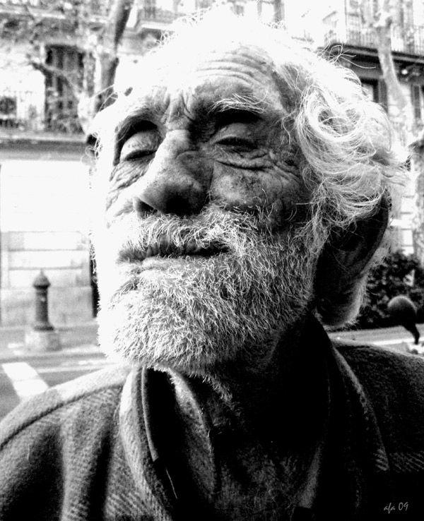 vell mariner viejo marinero old shipman  Barcelona