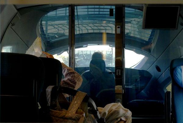 * El conductor del tren. Entrant a l'estació.