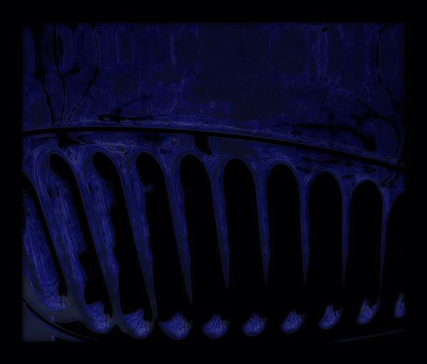 * Vidre blau indigo