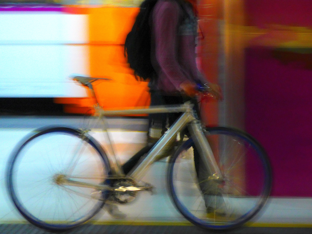 * Una bici al metro