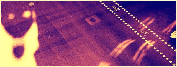 * Ombres i llums al terra del carrer