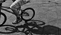 * Una bicicleta prop meu