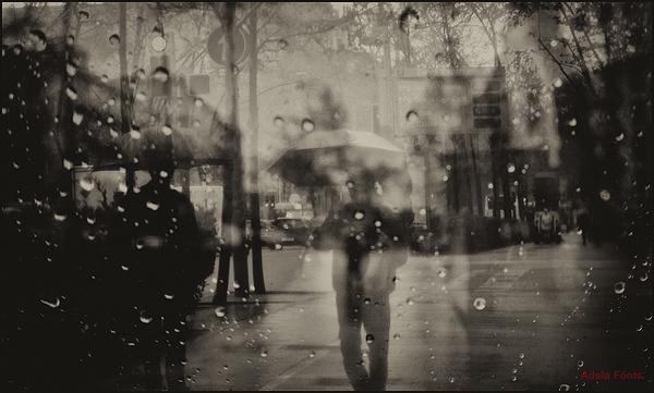 * Un dia de pluja al carrer