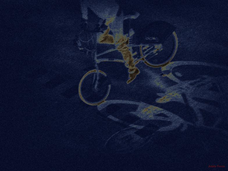 * Solaritzar una bici i la seva ombra