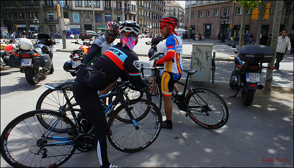 * Coloraines en bicicleta