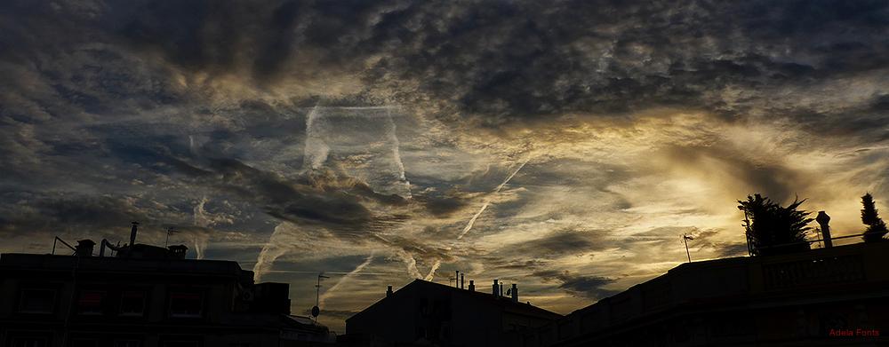 * Un cel pintat
