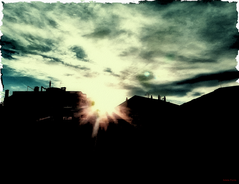 * El sol cau a la ciutat