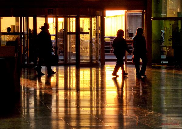* Posta de sol a l'aeroport del Prat