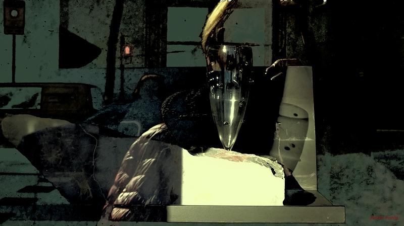 * Una copa de vidre