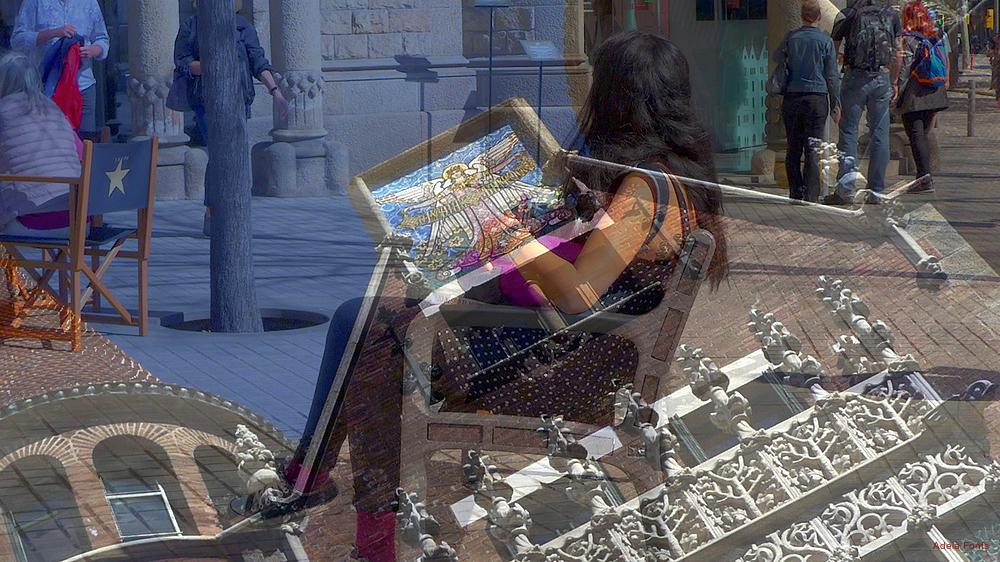 * El reflex de La Casa de les Punxes de Barcelona