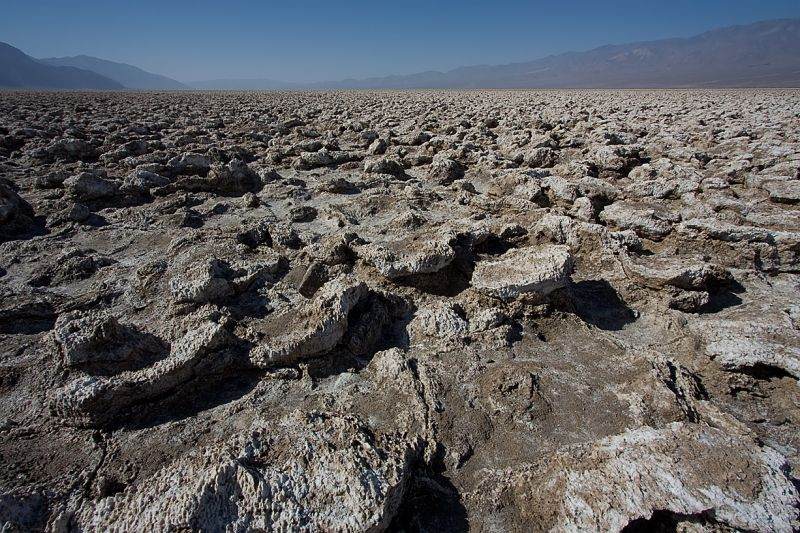 Devil's Golf Course in Death Valley California