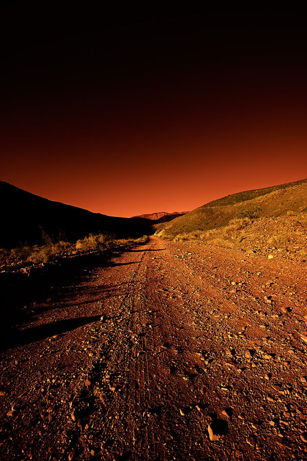 One of the unpaved roads in Death Valley