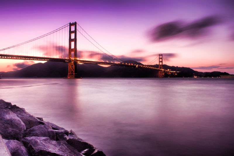 The Golden Gate Bridge after Sunset