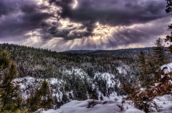 Winter Skies Over Barron Canyon Algonquin Park