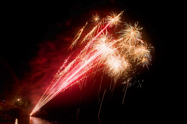 Fireworks over Chandos lake.