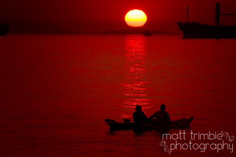 Kayak Sunset, Vancouver