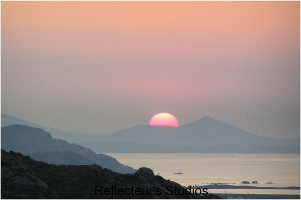 sunset beauty relax milos cyclades greece hellas