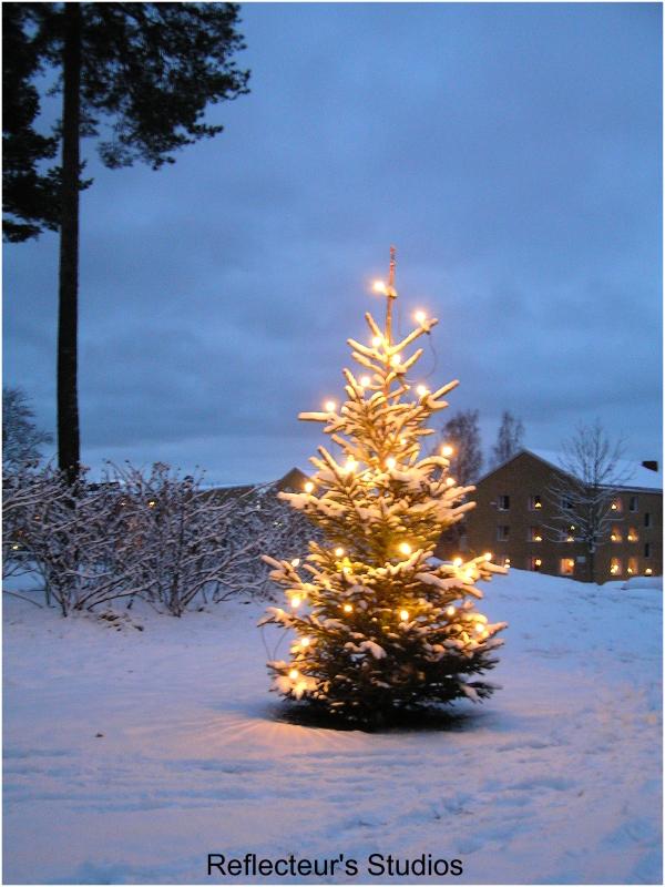 merry christmas parkgatan värmland sweden arvika